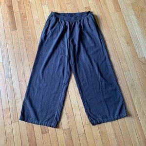 Gap charcoal gray Linen wide-leg pants